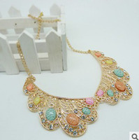 Wholesale 2013 popular diamond collar necklace Vintage collar necklace Retro chain necklace Chokers Pendant necklace