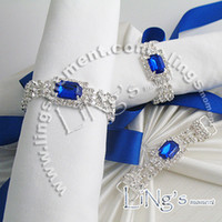 Cheap Hot Lowest price-Freeship-Tracking number-20pcs high quality,colours Gem Napkin Ribbon Rhinestone Ring Wedding Bridal Shower Favor 582