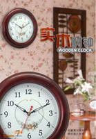 Wholesale Wooden Environmental protection paint wall clocks metal hands six designs choice sound proof