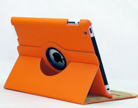 Wholesale Beautiful Colors Degree Rotating PU Leather Case Smart Cover Stand for iPad3 ipad2