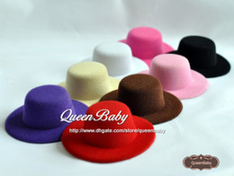 Wholesale 3 quot Mini Top Hat Baby Hats Flat Back Customize Your Own HAT Newborn Photography Props QueenBaby