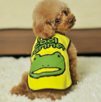 Wholesale 2013 cool summer new frog vest cartoon letters printed paparazzi shirt Dog Clothing pet Clothes Dog Apparel