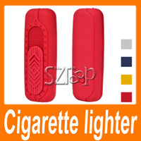 Wholesale No Gas Flameless Green electronic cigarette lighter USB Rechargeable Environmental cigarette lighter Via EMS