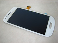 Wholesale Full LCD Display Touch Screen Digitizer Assembly for Galaxy S3 mini i9300 mini i8190 Blue White