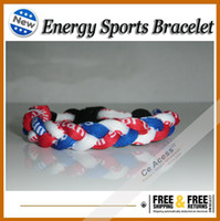 Wholesale fashion health titanium silicon balance energy handmade bracelet