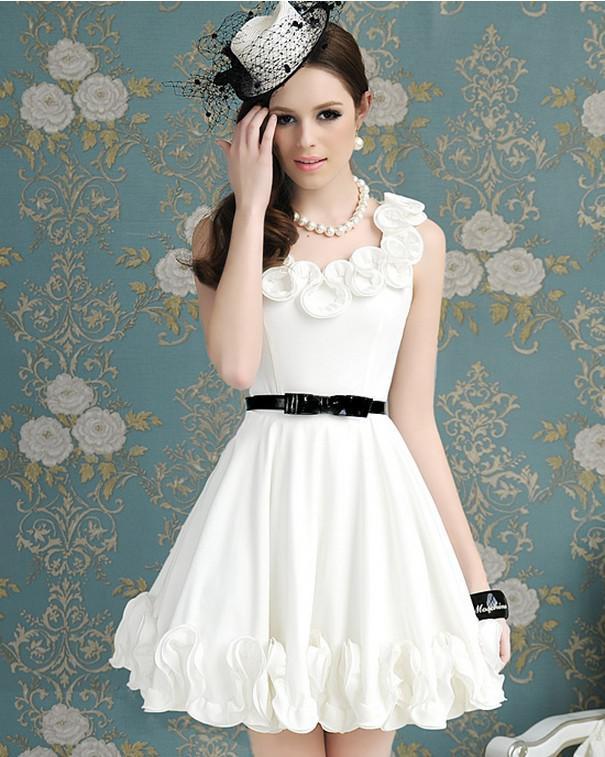Dress white short formaldresses wedding dress bridesmaid online with