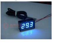 Wholesale New Blue quot LED C C Digital Thermometer Temperature Meter DS18B20 Sensor KSA