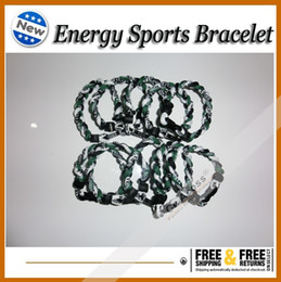 Wholesale 3 ropes tornade Bracelet Ropes Tornado Germanium Titanium Bracelet sports x45 Athletes bracelet
