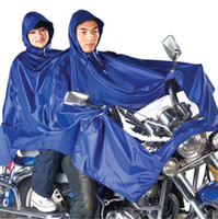 Wholesale Motorcycle electric bicycle battery car poncho double raincoat plus size lengthen