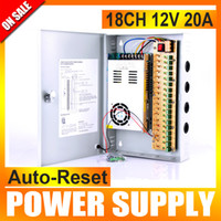 auto cctv - 18 Channel V DC A Regulated Power Supply AUTO RESET for CCTV System Pigtail COA