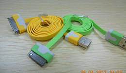 1M colorful Noodles Flat USB Sync Data Charger Cable 5000pcs