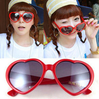 heart shape Woman Sports Free shipping wholesale resistance material sweet heart women's sunglasses(color mix)