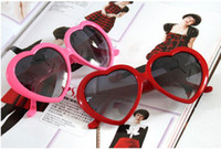 Wholesale Super star Plastic heart shape Sunglass lovely peach heart sunglasses