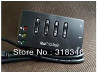 Wholesale 10pcs New USB DAC headphone earphone amplifier for computer virtual ch sound card
