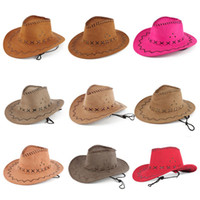Wholesale 15 colors Cowboy hat male old used cowboy hat stetson cowboy hat vintage cowboy hat HATA1