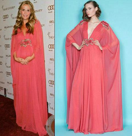 Long evening dress maternity