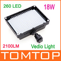 Wholesale HD LED Video Light Lamp W LM K K Dimmable for Canon Nikon Pentax DSLR Camera D847