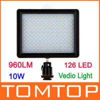 Wholesale HD LED Video Light Lamp W LM K K Dimmable for Canon Nikon Pentax DSLR Camera D846