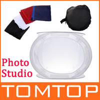 Wholesale Photo Studio soft box Shooting Cube x cm photo light tent portable bag Backdrops D854