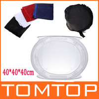 Wholesale Photo Studio soft box Softbox Cube Box x cm photo light tent portable bag Backdrops D856
