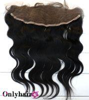 Wholesale Top Quality Brazilian Lace Frontal Closure Body WAVE Size x4 quot Bleached Knots DHL