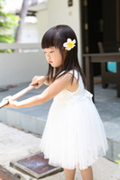 Summer baby white roses - Fashion Flower Girl s Baby dress Lace White roses princess veil of the girls