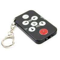 Wholesale Promotion Sale Black Universal IR Mini TV Remote Control Keychain Controlers