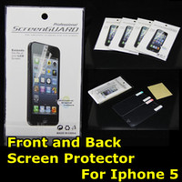 Wholesale Screen Protector for Iphone Front and Back High Clear Matte Anti glare Full Body LCD Guard Protective Film Cover Shield for Iphone5 g