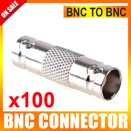 Wholesale 100pcs BNC Female To BNC Female Converter Connector Adapter Use For CCTV Video Camera System