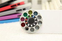 Cheap Wholesale Brand New Iphone 5 Hard PC Special lens Turntable Mobile phone cases 6 color 100 pcs lot