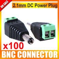 Wholesale 100pcs CCTV DC Power Jack Adapter Connector Plug CCTV Accessories