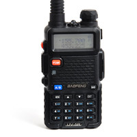 Wholesale Hotsale New Portable Walkie Talkie BF UV5R W CH Handheld Mobile Way Radio UHF VHF DTMF Keypad Black A0850A