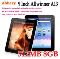 Wholesale 9 Inch Capacitive Screen Tablet PC Android MID GB WIFI Allwinner A13 MB GHZ Ultrathin Camera Wifi