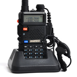 Vente de radios à deux voies à vendre-Hot Sale Baofeng BF-UV5R Handheld Talkie Walkie A0850A Radio Portable 5W 128CH UHF + VHF 136-174MHz + 400-480MHz DTMF Two Way Radio
