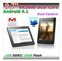Wholesale Top quality inch Rockchip3066 Cortex A9 G Dual Core mid GB GB Dual camera tablet pc