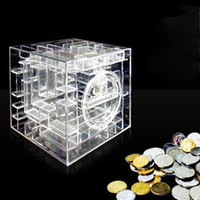 Wholesale New Money Maze Coin Box Puzzle Gift Prize Saving Bank Coin Bank Money Boxes