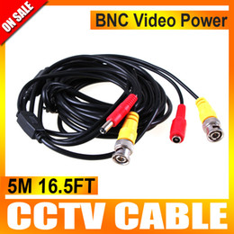 5M BNC Video Power Cable for CCTV DVR Surveillance Security Camera