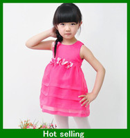 Wholesale 2013 summer fashion girls Jelly dress beautiful princess kids clothing for T children wear party birthday gifts