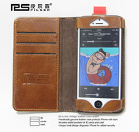 Leather For Apple iPhone For Christmas Pilsen Leather case Wallet ID Credit Card KickStand Genuine Leather Case Back Cover for Apple iphone 5 5G hot sale