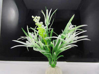 Wholesale MOQ10pcs Aquarium fish tank decoration artificial aquarium plants plastic flower T9330
