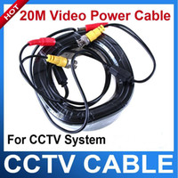 Wholesale 20M Video DC Power Cable BNC For CCTV Security Camera DVR Surveillance New