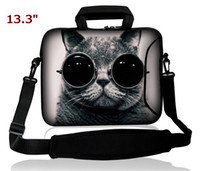 "13'' Messenger Neoprene 13""-13.3"" Double Pocket Notebook Laptop Strap Sleeve Case Shoulder Bag-for Apple Macbook air pro All new designs"