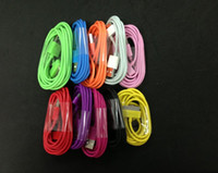 Wholesale M M M ft ft ft Colorful USB Data Sync Charger Cable for Iphone Iphone4s Cell Phone
