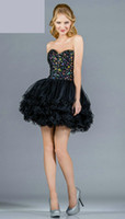Reference Images Organza Sweetheart 2013 Black Transparent Corset Homecoming Dress Multi-Colored Beaded Short Ball Gown Customized 061