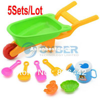 Wholesale 5Sets Cute Truck Spade Set Of Seaside Sand Pit Beach Toy Set Educational Children Kids To