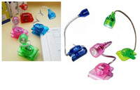 Wholesale 100 LED reading light lamp Clip LED Night Book Light Mini Flexible Clip light