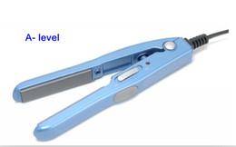 Wholesale Hair Straightener Straightening Flat Iron with Retailed Box BLUE