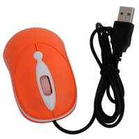 1600 Wired Mini Cheap New USB Wired Optical Mouse for Laptop PC Notebook Desktop Orange Color 10pcs Free Shipping