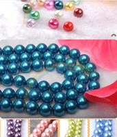 Wholesale MM glass pearl beads Imitation pearl colors available