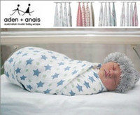 Wholesale New Born Baby Muslin Swaddle Aden Anais Regurgitate milk Blankets Towel EMS free ship